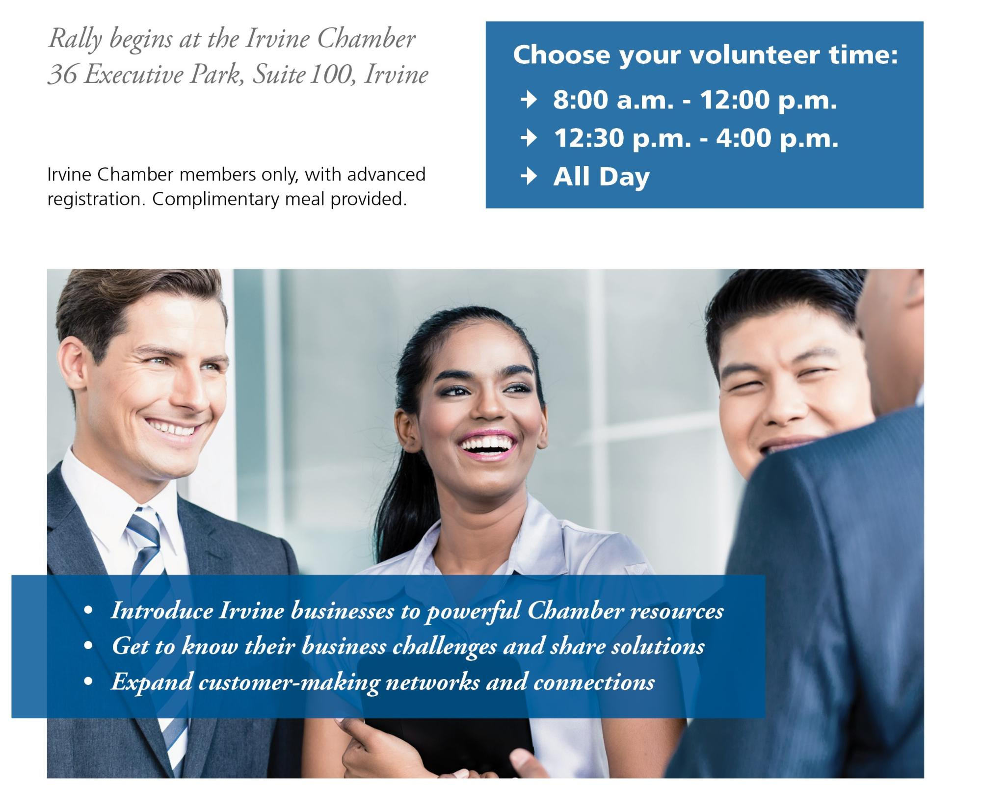 Irvine Business Outreach Photo - Click Here to See