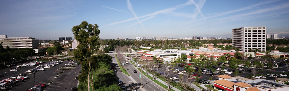 aerial view of Irvine, CA