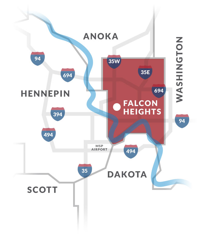 falcon heights mn map