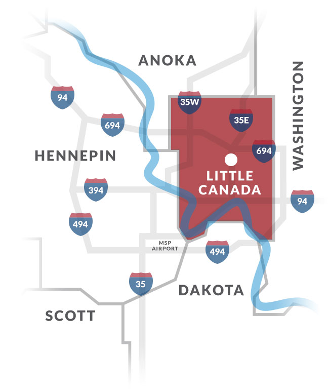 little canada mn map