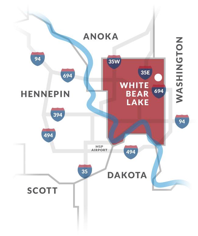 white bear lake mn map