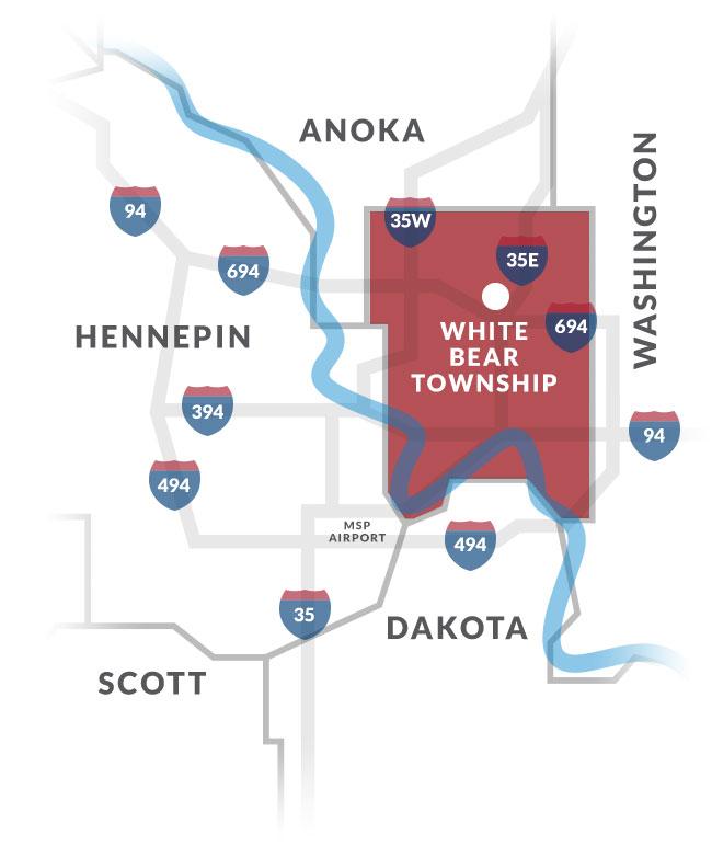 white bear township mn map