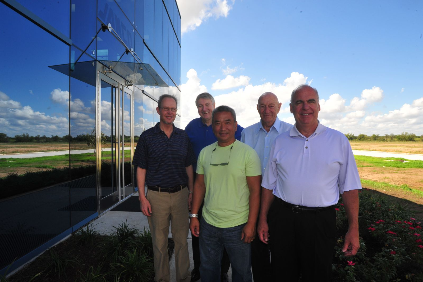 From left to right: Willie Johnson (owner), Phil Reames (CFO), Van Nguyen (Exec VP), George Johnson Sr. (owner), and Phil Greeves (Pres and CEO). (Photo by Terry Hagerty Photography)