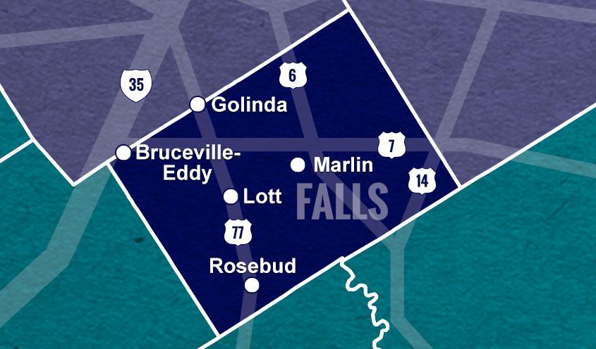 Falls County, TX map