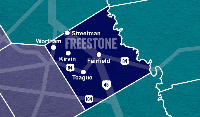 Freestone County, TX map