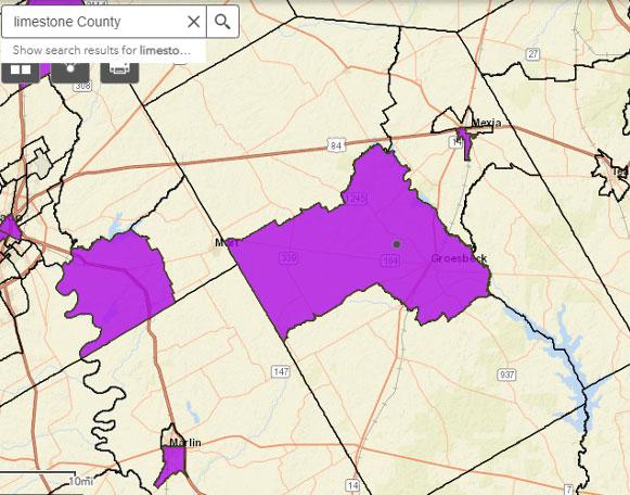 limestone county opportunity zone map