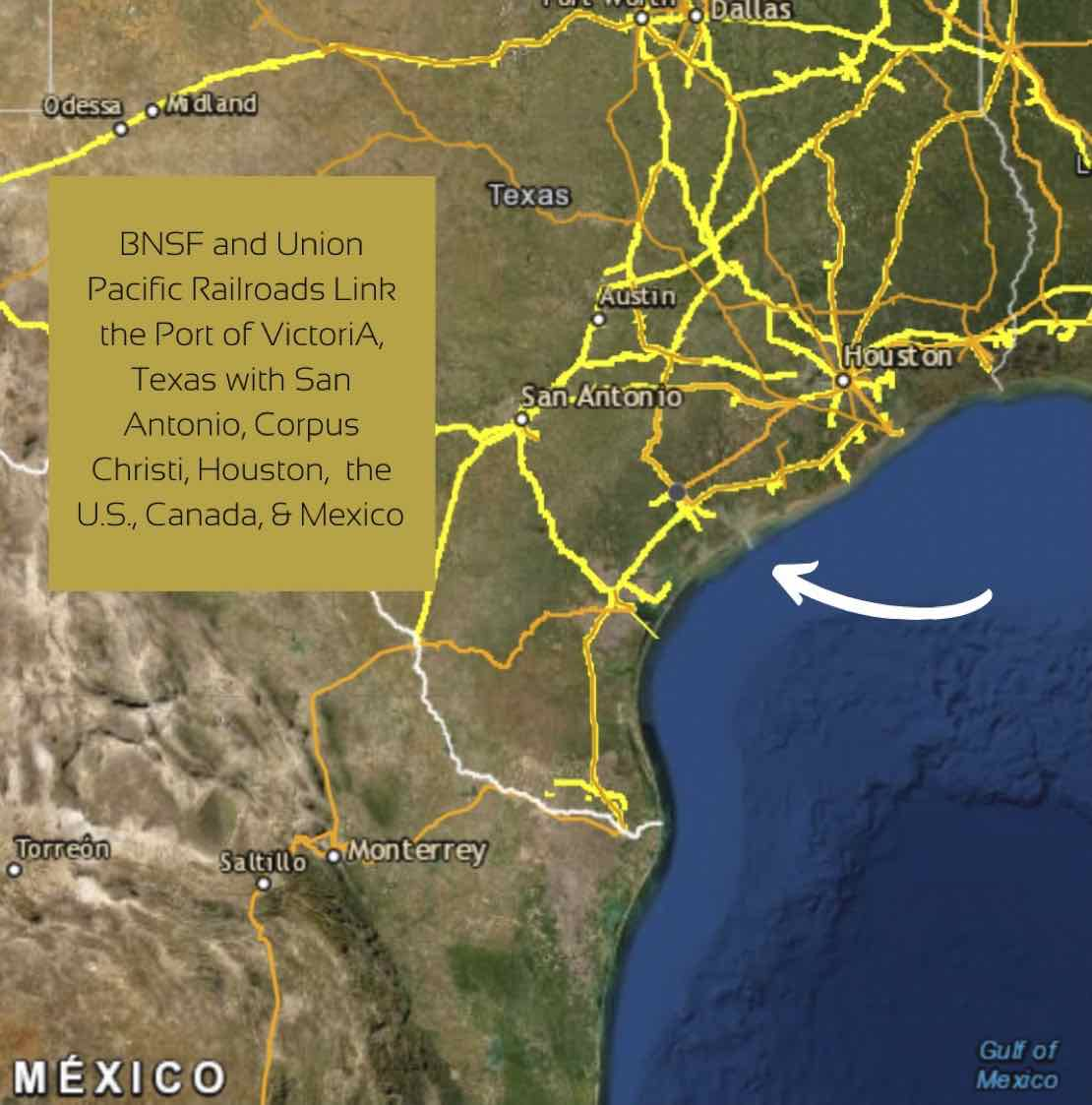 map of BNSF and Union Pacific rail lines
