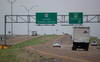vehicles on highway 59