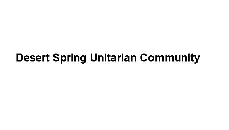 Desert Spring Unitarian Community Logo