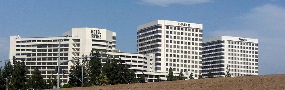 Hotel Irvine, Chase, MetLife buildings